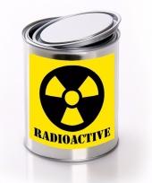 Horror decoratie blik met radioactive radioactief etiket