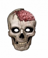 Horror halloween masker doodskop 21 x 30 cm
