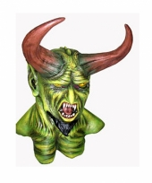 Horror monster masker met hoorns