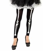 Horror skelet legging met botten