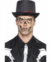 Horror skull gezicht tatoeage