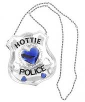 Hottie police tasje met steentjes