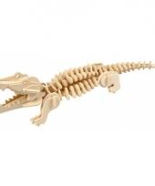 Houten 3d puzzel reptielen krokodil