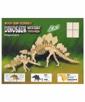 Houten bouwpakket met stegosaurus
