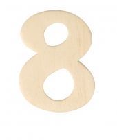 Houten cijfer 8