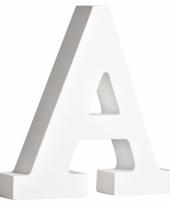 Houten decoratie letter a 11 cm
