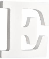 Houten decoratie letter e 11 cm