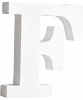 Houten decoratie letter f 11 cm