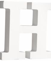Houten decoratie letter h 11 cm