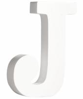 Houten decoratie letter j 11 cm