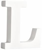 Houten decoratie letter l 11 cm