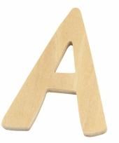 Houten naam letter a 10055557