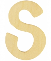 Houten naam letter s 10055577
