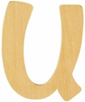 Houten naam letter u 10055579