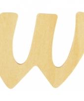 Houten naam letter w 10055581