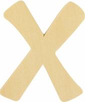 Houten naam letter x 10055582