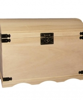 Houten opberg kist onbehandeld 44 8 cm