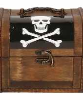 Houten piratenkistje 11 cm