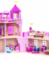 Houten speelgoed paleis zonder meubels