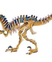 Houten velociraptor dino puzzel