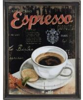 Houten vintage schilderij espresso koffie