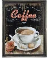 Houten vintage schilderij koffie 10062185