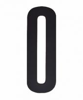 Huisvuil containersticker cijfer nul 10 cm