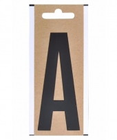 Huisvuil containersticker letter a 10 cm