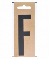 Huisvuil containersticker letter f 10 cm
