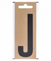 Huisvuil containersticker letter j 10 cm