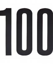 Huisvuil containerstickers cijfer 100 10 cm