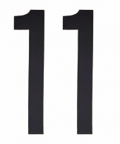 Huisvuil containerstickers cijfer 11 10 cm