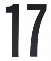 Huisvuil containerstickers cijfer 17 10 cm