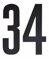 Huisvuil containerstickers cijfer 34 10 cm