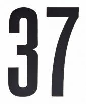 Huisvuil containerstickers cijfer 37 10 cm