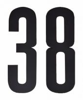 Huisvuil containerstickers cijfer 38 10 cm