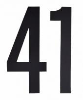 Huisvuil containerstickers cijfer 41 10 cm