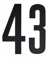 Huisvuil containerstickers cijfer 43 10 cm