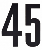 Huisvuil containerstickers cijfer 45 10 cm