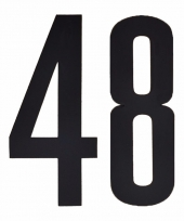 Huisvuil containerstickers cijfer 48 10 cm