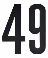 Huisvuil containerstickers cijfer 49 10 cm