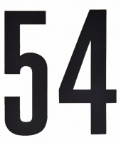 Huisvuil containerstickers cijfer 54 10 cm