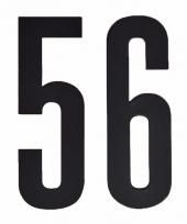 Huisvuil containerstickers cijfer 56 10 cm
