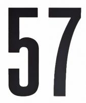 Huisvuil containerstickers cijfer 57 10 cm
