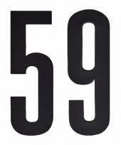 Huisvuil containerstickers cijfer 59 10 cm
