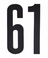 Huisvuil containerstickers cijfer 61 10 cm