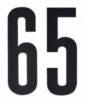 Huisvuil containerstickers cijfer 65 10 cm