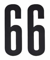 Huisvuil containerstickers cijfer 66 10 cm