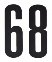 Huisvuil containerstickers cijfer 68 10 cm