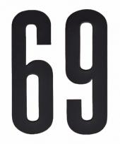 Huisvuil containerstickers cijfer 69 10 cm